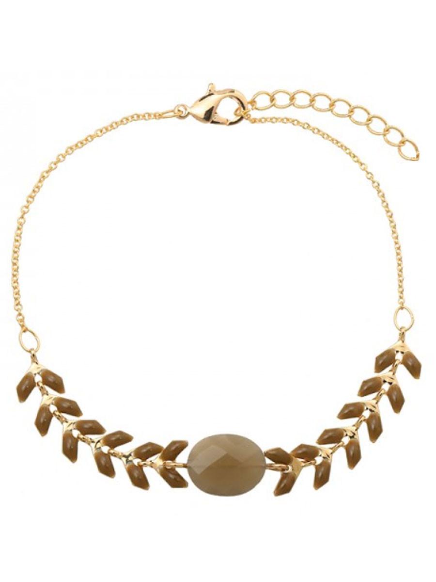 Van Fashionize Armband Gold Plated Bruin Prijsvergelijk nu!
