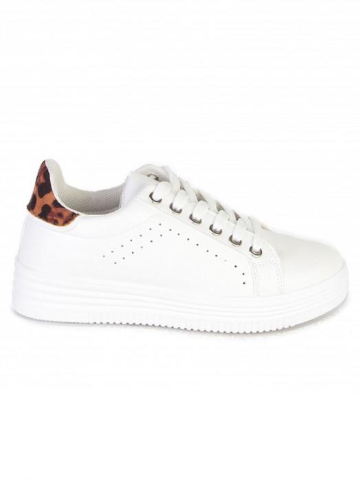 Sneakers Leopard Wit
