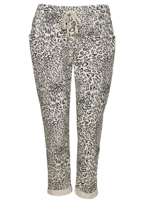 Broek Leopard Beige