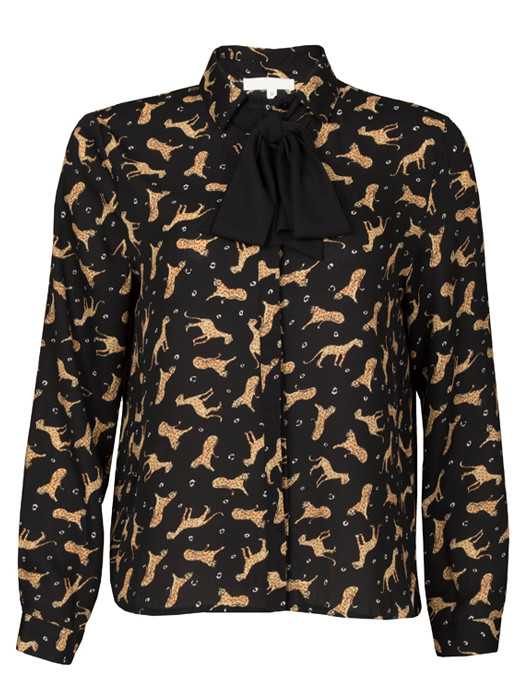 Van Fashionize Blouse Leopard Bow Tie Prijsvergelijk nu!