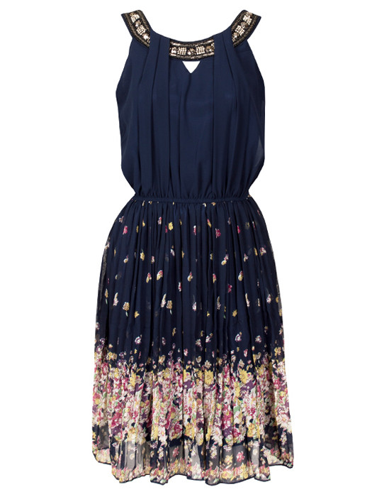 Dress Blossom Navy