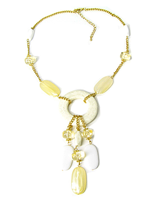 Halsketting goud met wit