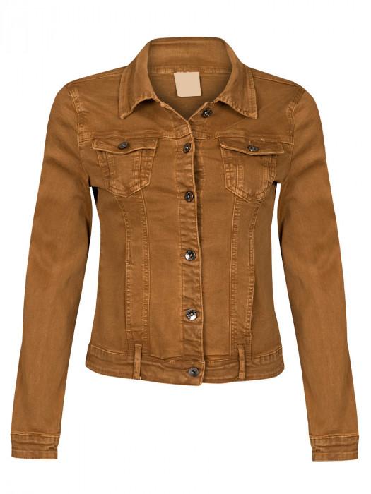 Jeans Jacket Stretch Camel