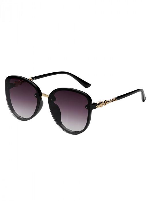 Zonnebril Elegant Zwart/Roze