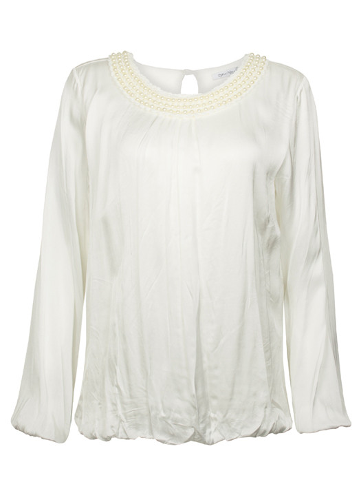 Top Silk & Pearls White