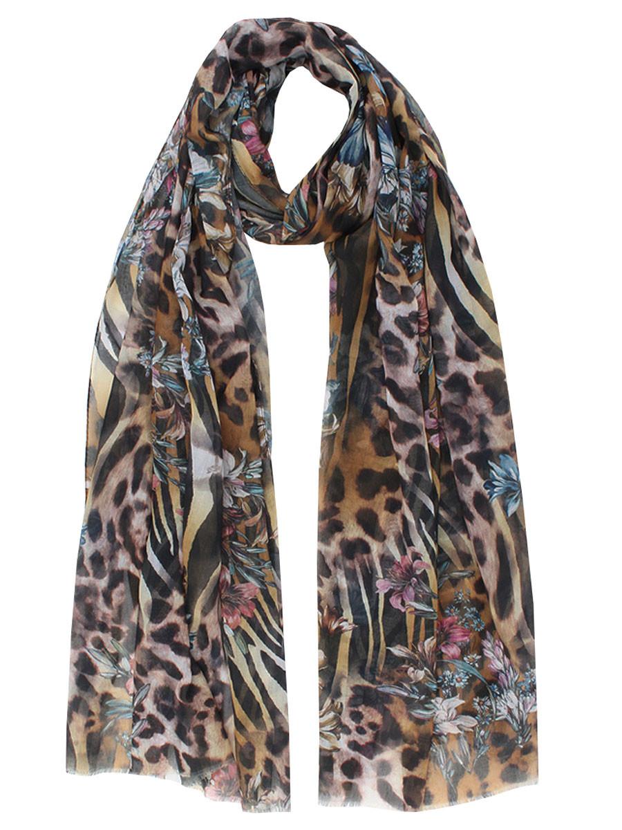 Sjaal Leopard Flowers
