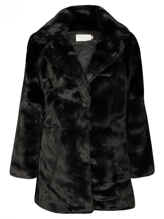 Coat Faux Fur Black