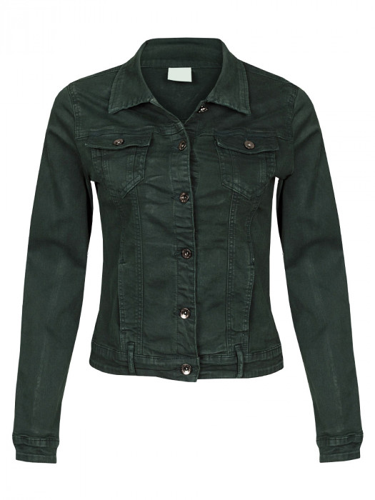 Jeans Jacket Stretch Groen