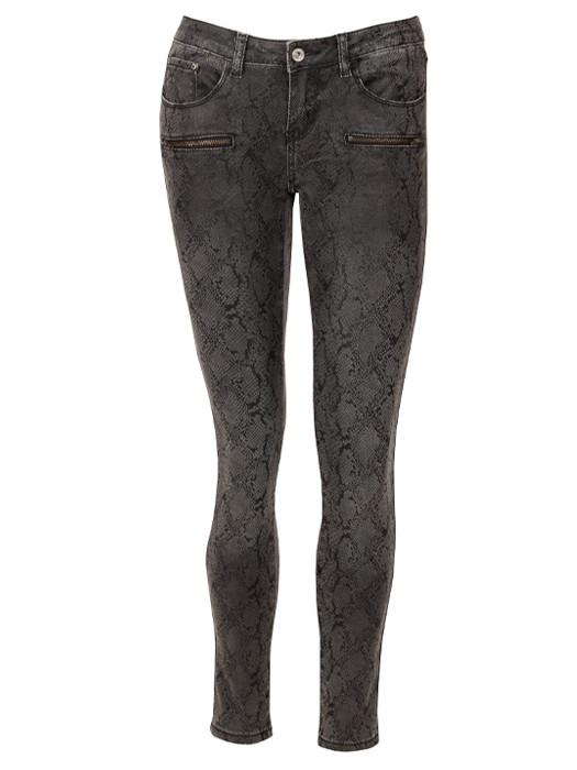 Image of Skinny Jeans Snake Gray