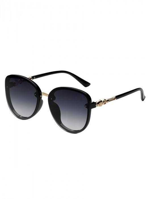 Zonnebril Elegant Zwart/Blauw