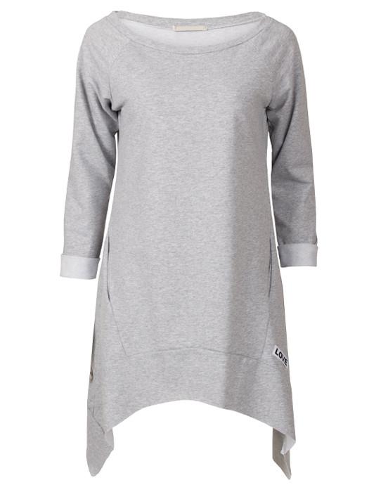 Sweater Dress Love Gray