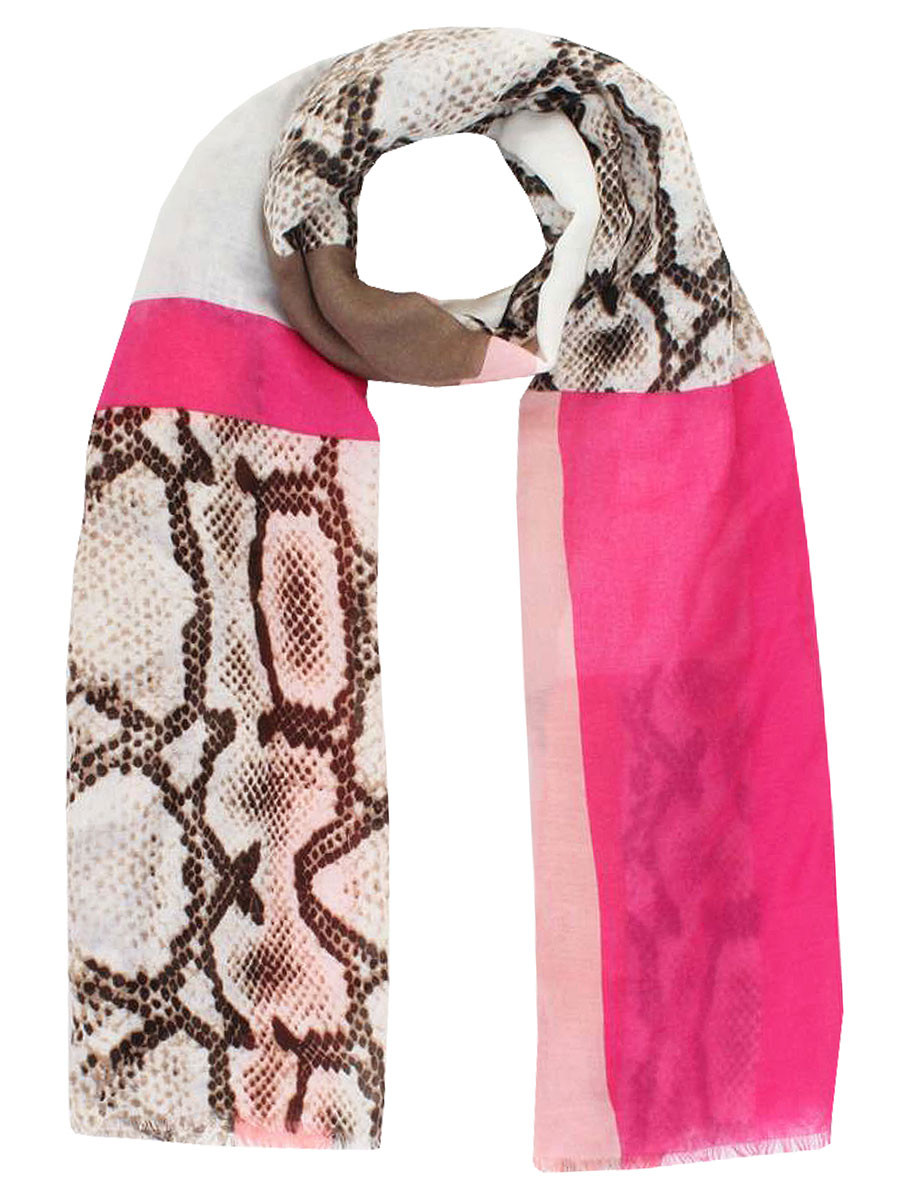 Image of Sjaal Snake Pink