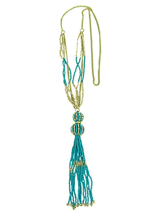 Halsketting beads turquoise