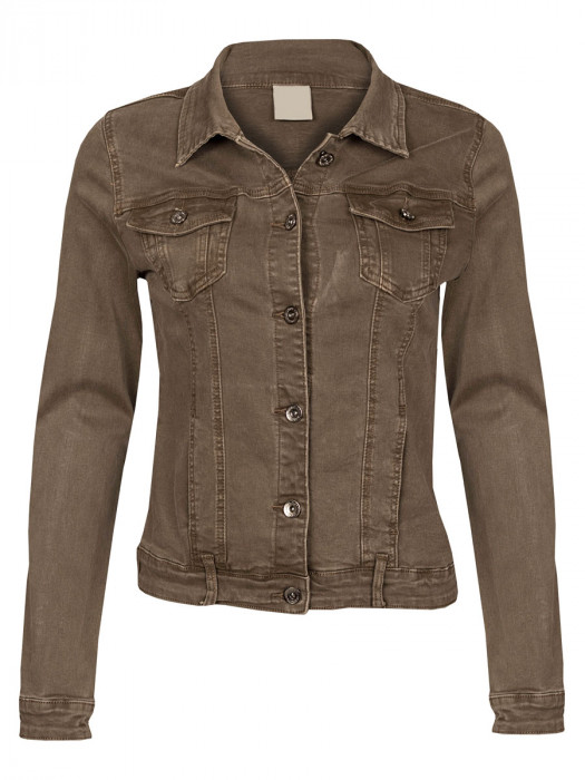 Jeans Jacket Stretch Taupe