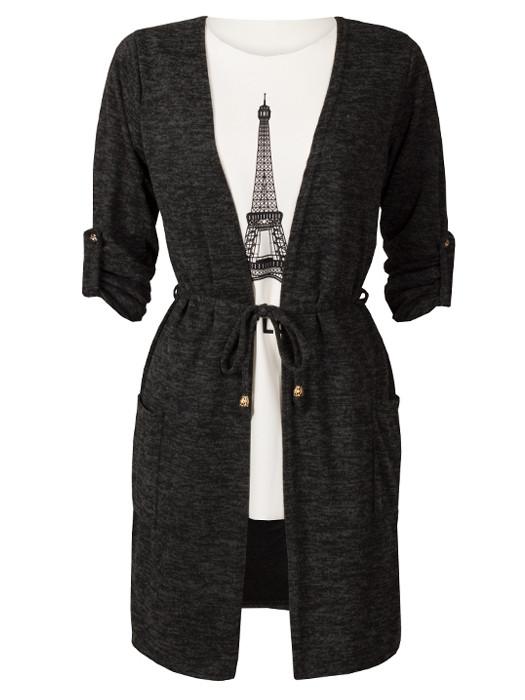 Vest Black & Shirt Paris