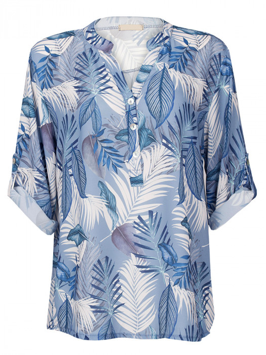 Blouse Tropical Blauw