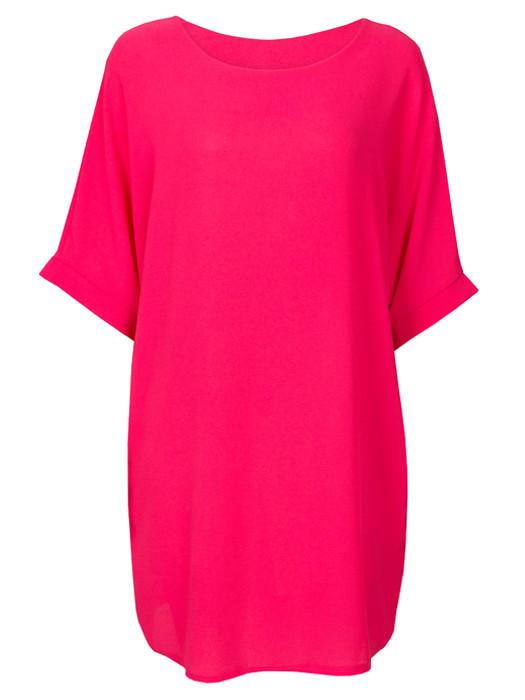 Comfy Dress Fuchsia