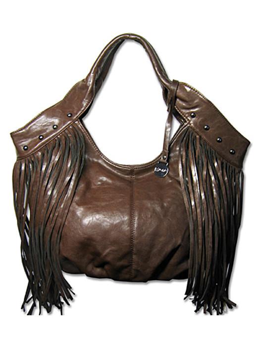 Van Fashionize Fringe tas bruin Prijsvergelijk nu!