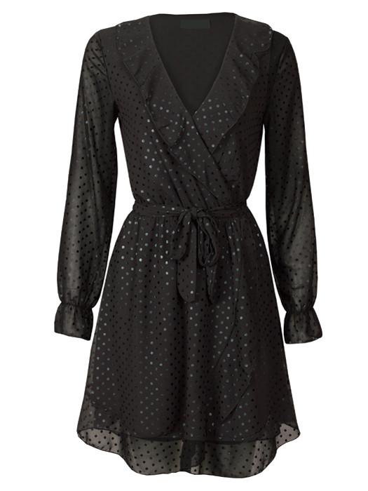 Image of Dress Pretty Dots Black