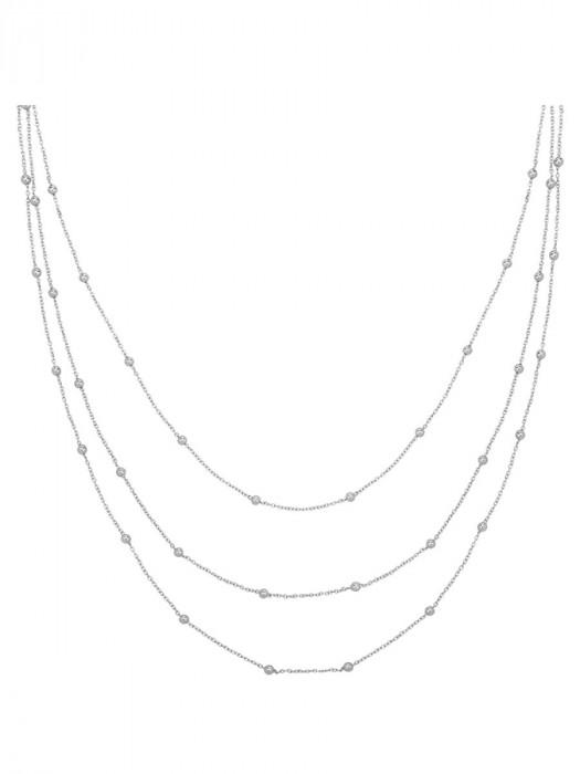 Halsketting Bolletjes Zilver