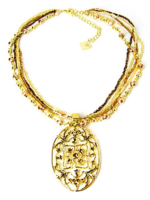 Halsketting goud victoriaans