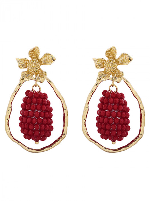 Oorbellen Glam Grapes Rood