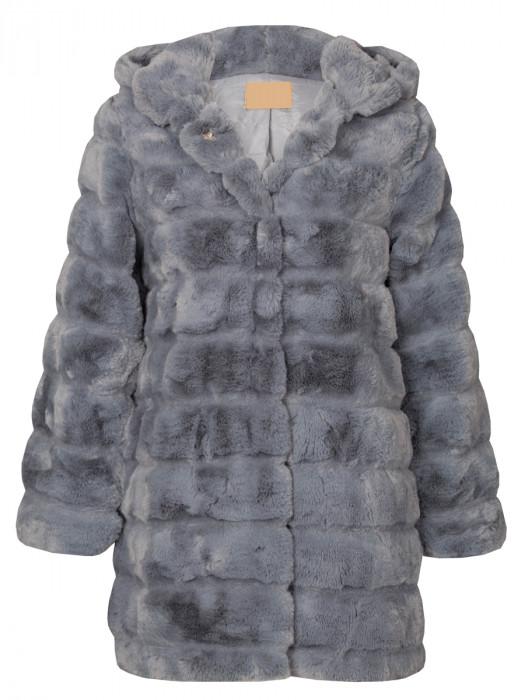 Fake Fur Coat Gray